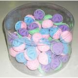 09T/Чм-12800/22131032 ТРИОЛ Набор д/кошек Мяч цветочный двухцветный зефирный ф45мм*60шт(туба)