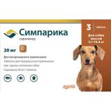(Л) Симпарика таблетки от блох и клещей 20мгХ3 для собак массой 5,1-10кг*10
